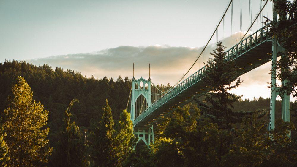 Portland, Oregon bridge , Cathedral Park