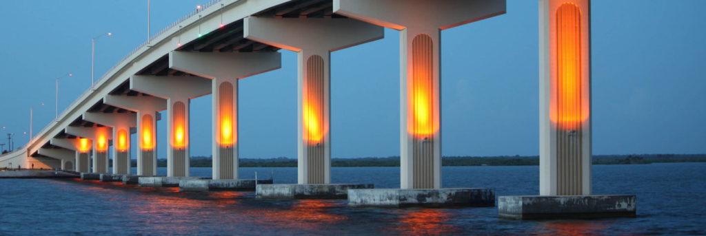 bridge in evening light