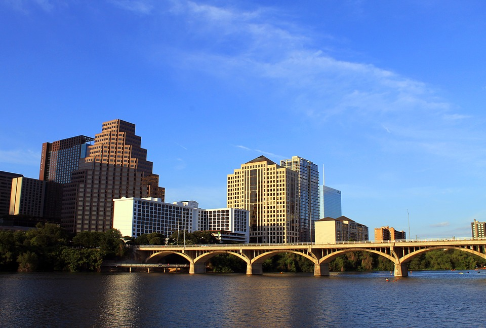 Austin skyline with bridge
