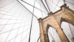 top view of Brooklyn Bridge