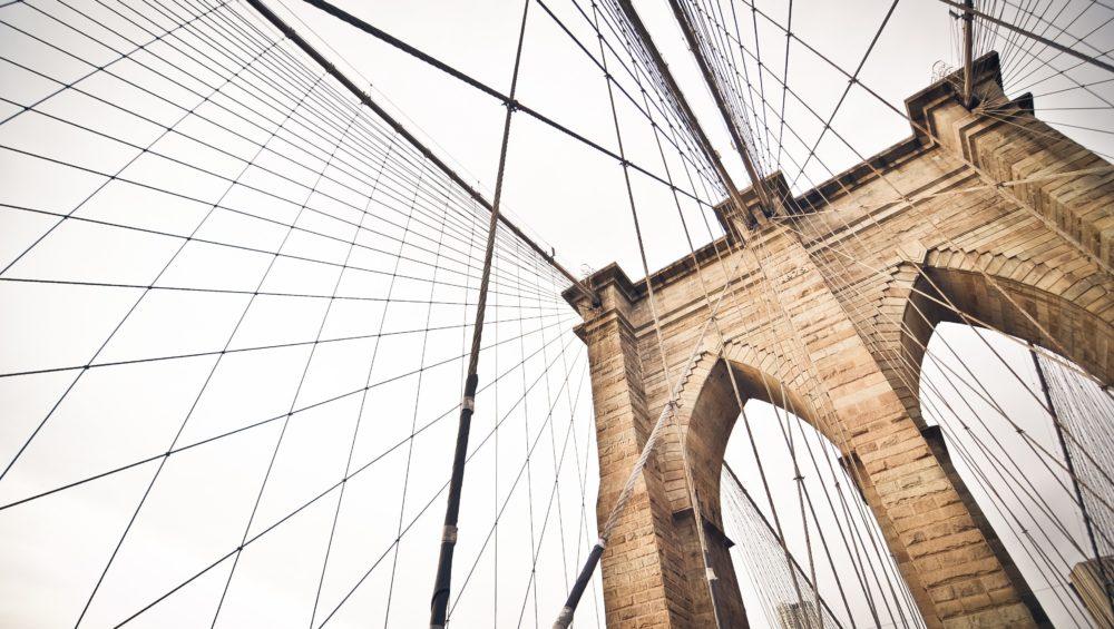 top view of Brooklyn Bridge