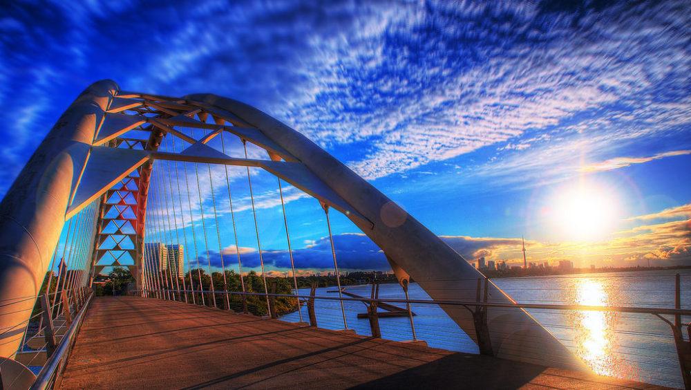 Toronto Bridge at sunrise