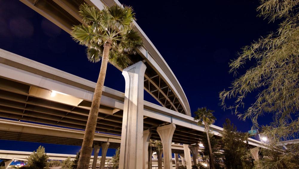 Arizona interchange at night