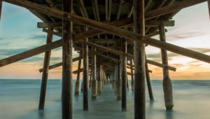 Underneath side of pier